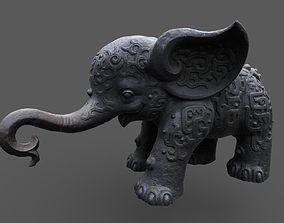 Ancient elephant 02 3D model