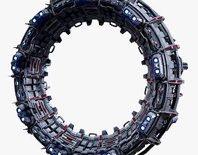 Sci-Fi Star Gates Type 02 Low Poly 3D asset