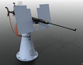 3D model Oerlikon 20mm anti-aircraft gun