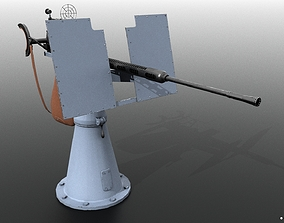 3D model Oerlikon 20mm anti-aircraft gun