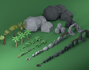 3D model Low Poly Pirate Nature