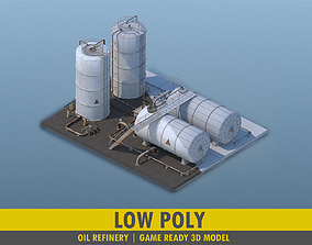 3D model Oil Refinery Factory