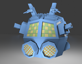 3D model Outer-Space Sci-Fi Bug Helmet