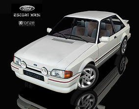 3D model Ford Escort XR3i 1986 3 doors hatchback with