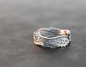 Wings 3D printable model rings