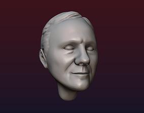 Male head 8 3D printable model people