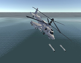 3D asset Fantasy Military Helicopter - Arctic Battle 3