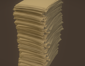 3D Paper Pile Stack
