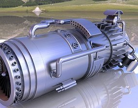 turbine engine 3D model