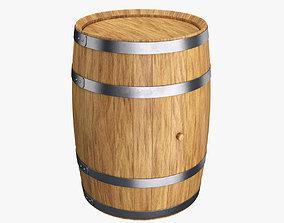 3D Wooden barrel 50L