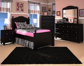 3D model Ashley Jaidyn Poster Bedroom Set