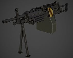M249 Low Poly 3D model