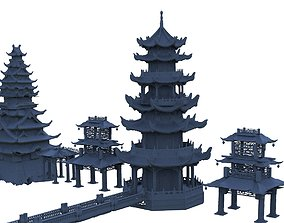 3D model Fantasy Asian Towers Collection