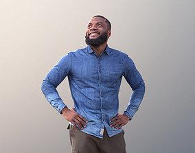 3D asset Gabriel 10632 - Black Man Walking Looking Up