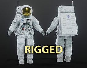 Apollo 11 Space Suit Rigged 3D model PBR