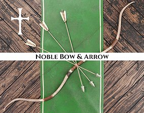 Medieval Noble Bow and Arrow 3D model
