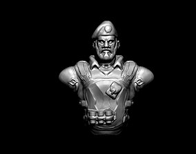 Valorant Brimstone - Fanart Bust 3D print model miniatures