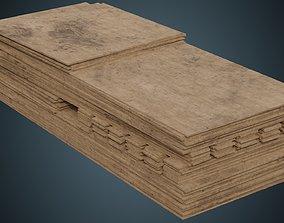 Wooden Sheets 1B 3D asset