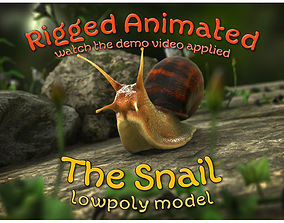 The Snail 3D model animated