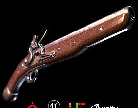 Game Ready Musket D180221 3D asset