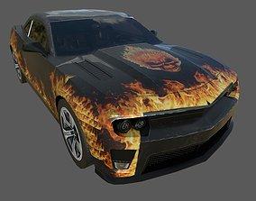 3D model low poly AR vr Chevrolet camaro car for games