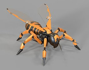 Robot wasp mechanical 3D model