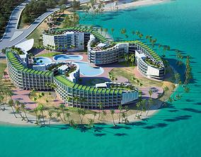 EPD Resort Hotel 3D model architecture