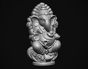 3D print model Ganesha ji with Mushak raj Scooped
