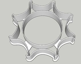 Sun Burst Cookie Cutter 3D print model sun