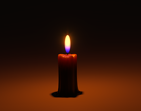 dark Candle 3D model