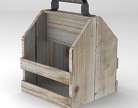Wooden Drink Carrier 3D model