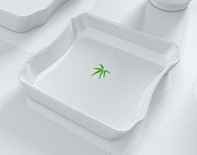 Bamboo plate 3D model