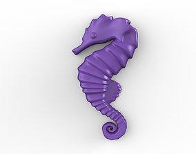 Printable Seahorse Relief
