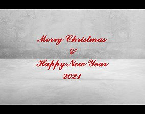 3D model Merry Christmas and Happy New Year