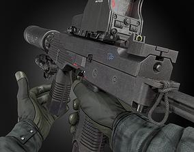 3D asset MP9 SUBMACHINE GUN