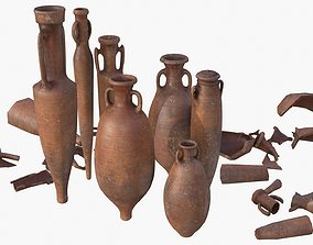 Amphora - Red Terracotta 3D model