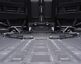 Sci-fi Scene for renders Time Travel 3D model