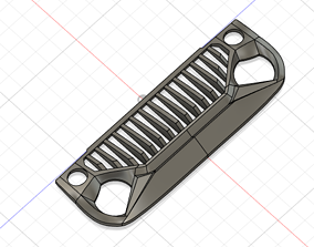 3D print model Avenger Eagle Angry Face Intake Grille 2