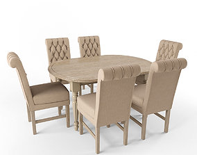 Soft Chair Arthur and Table Benedict 3D model