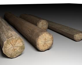 3D asset tree logs mini pack