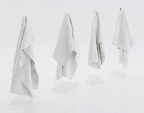 3D White towels
