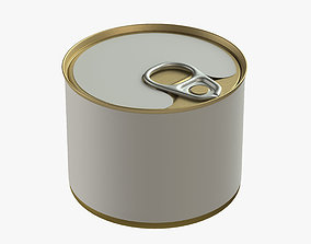 3D canned food round tin metal aluminium can 04