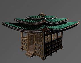 3D Wooden japanese arbor