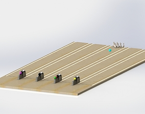 3D Bowling Alley Simulation