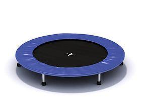 Small Blue Trampoline 3D model