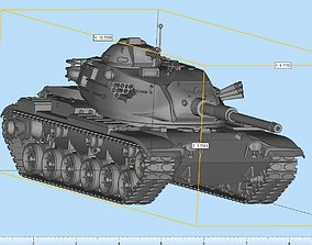 M60 Patton MBT Highly Detailed 3D print model
