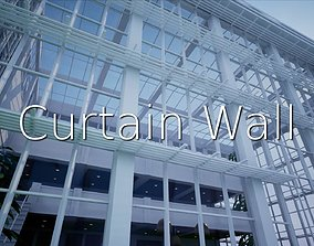 Curtain Wall SHC Quick Office 3D asset