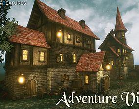 3D asset Adventure Village for UNREAL