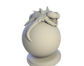 Desktop figure Crazy Lizard 3D printable model