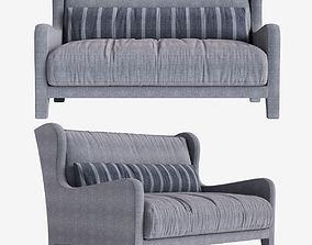 Sofa Foster Soft Meridiani l140 x d97 x h90 art 3D model